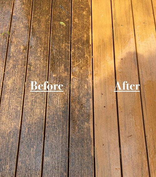 wood composite before and after update