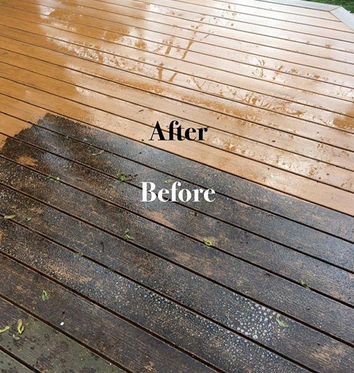 wood composite deck before and after