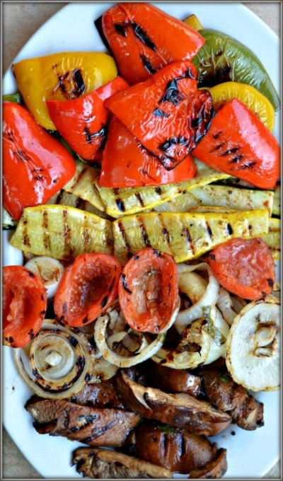grilled fall vegetables