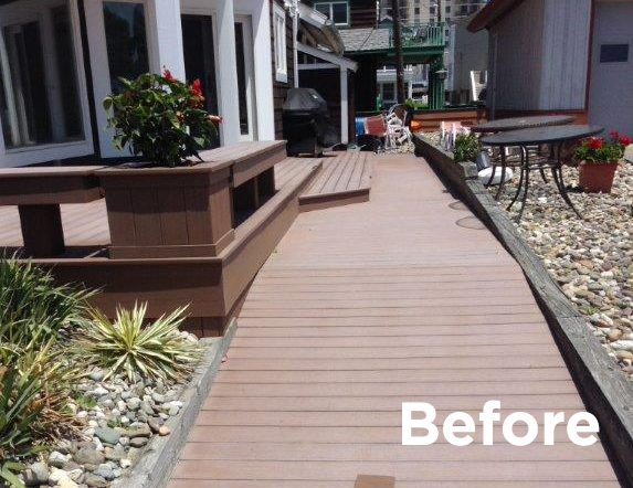 DeckMAX® E2 PVC Deck REVITILIZER before treatment photo
