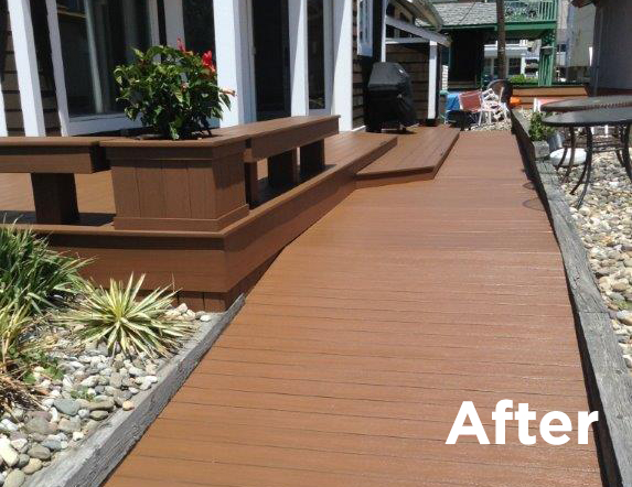 DeckMAX® E2 PVC Deck REVITILIZER after treatment